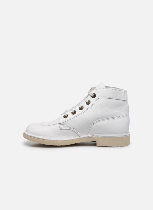 Chaussures à lacets Kickers Kick Col Blanc vue face