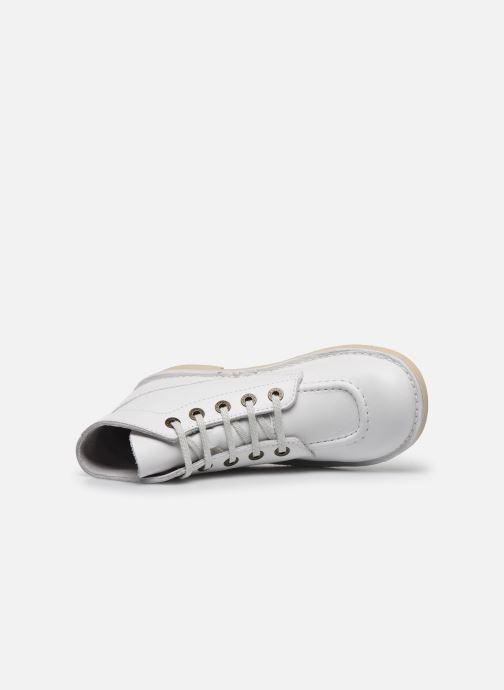 Chaussures à lacets Kickers Kick Col Blanc vue gauche