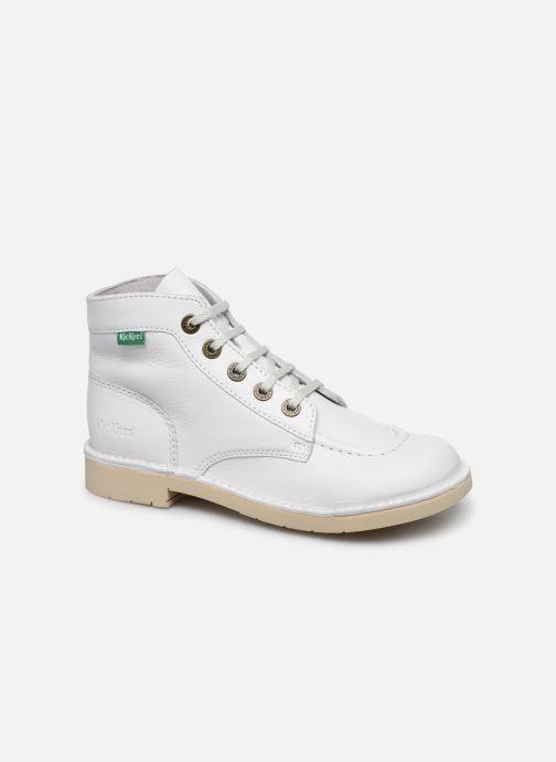 Chaussures à lacets Kickers Kick Col Blanc vue détail/paire