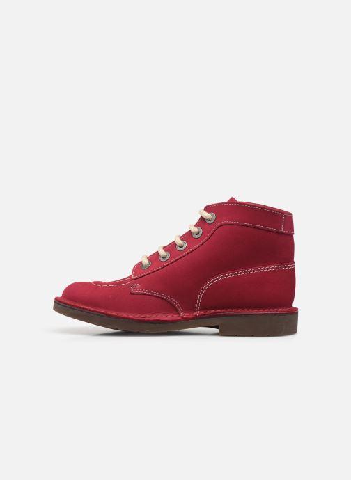 Chaussures à lacets Kickers Kick Col Rose vue face