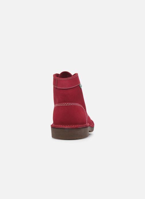 Chaussures à lacets Kickers Kick Col Rose vue droite
