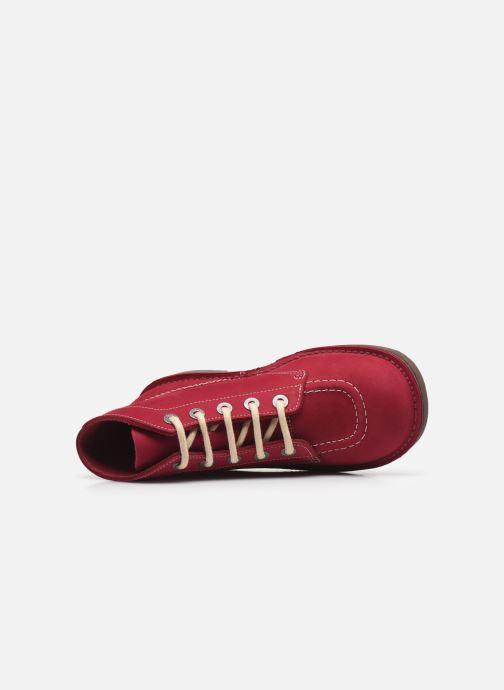 Chaussures à lacets Kickers Kick Col Rose vue gauche