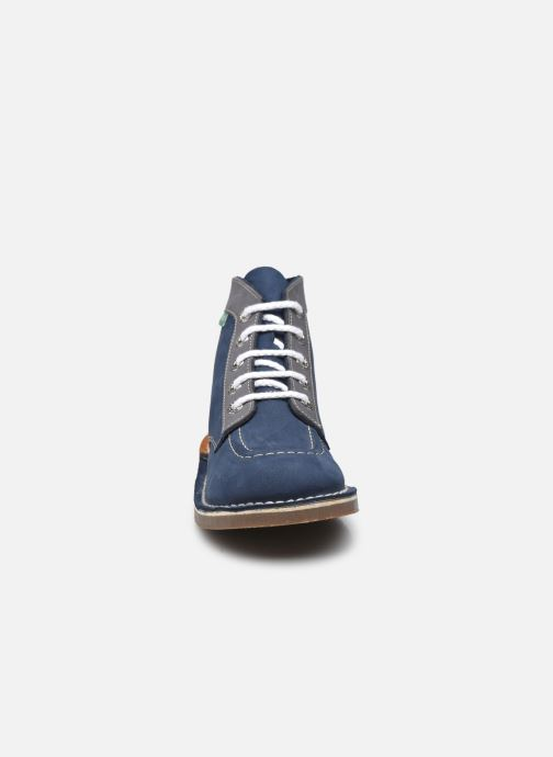 Schnürschuhe Kickers Kick col blau schuhe getragen