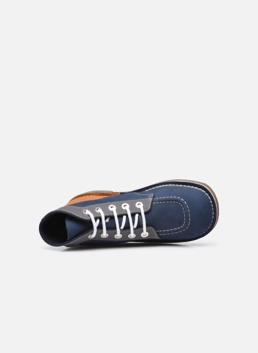 Scarpe con lacci Kickers Kick Col Azzurro immagine sinistra