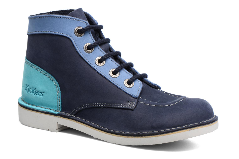 Chaussures à lacets Kickers Kick Col Bleu vue détail/paire