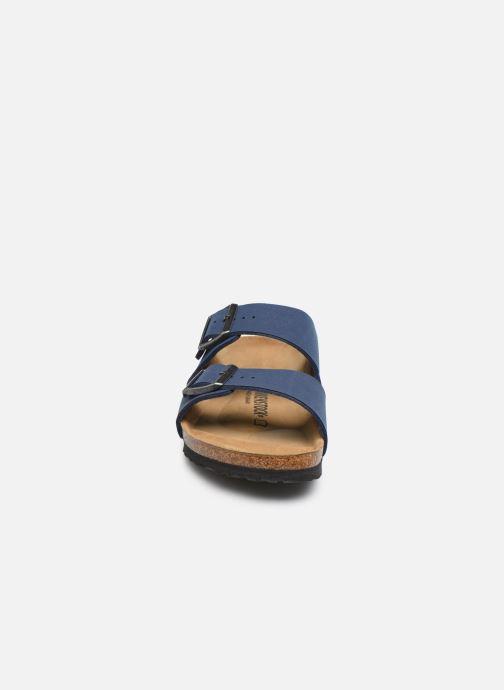 Sandalen Birkenstock Arizona blau schuhe getragen