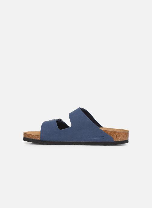 Sandales et nu-pieds Birkenstock Arizona Bleu vue face