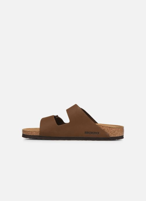 Sandales et nu-pieds Birkenstock Arizona Marron vue face