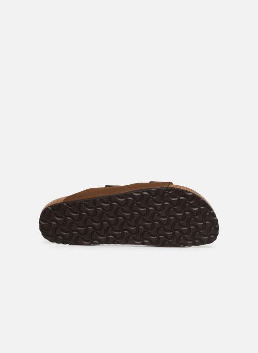 Sandales et nu-pieds Birkenstock Arizona Marron vue haut