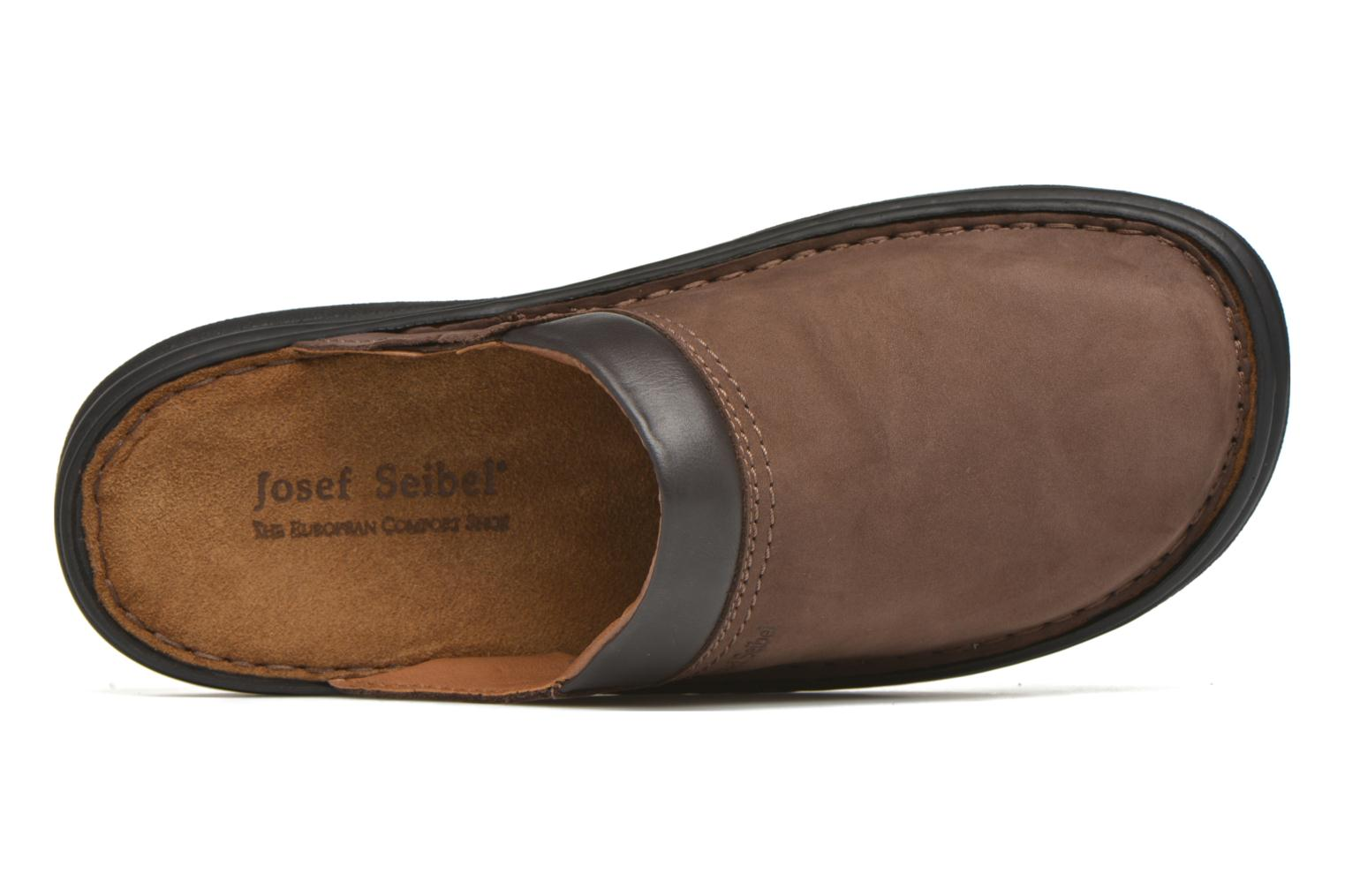 Slippers Josef Seibel Max Brown view from the left