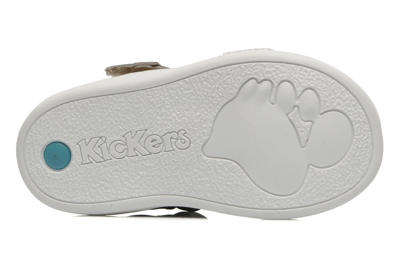 Schoenen met klitteband Kickers Teo Grijs boven