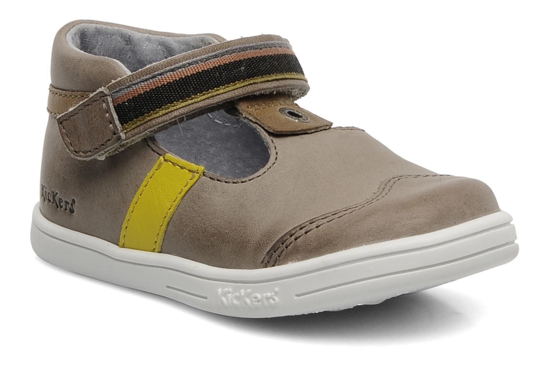 Schoenen met klitteband Kickers Teo Grijs detail