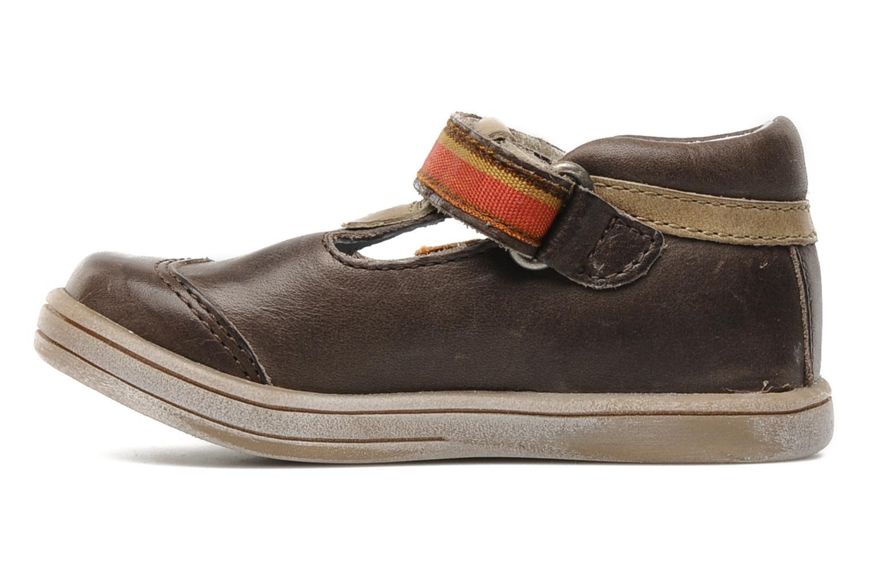 Skor med kardborrband Kickers Teo Brun bild från framsidan