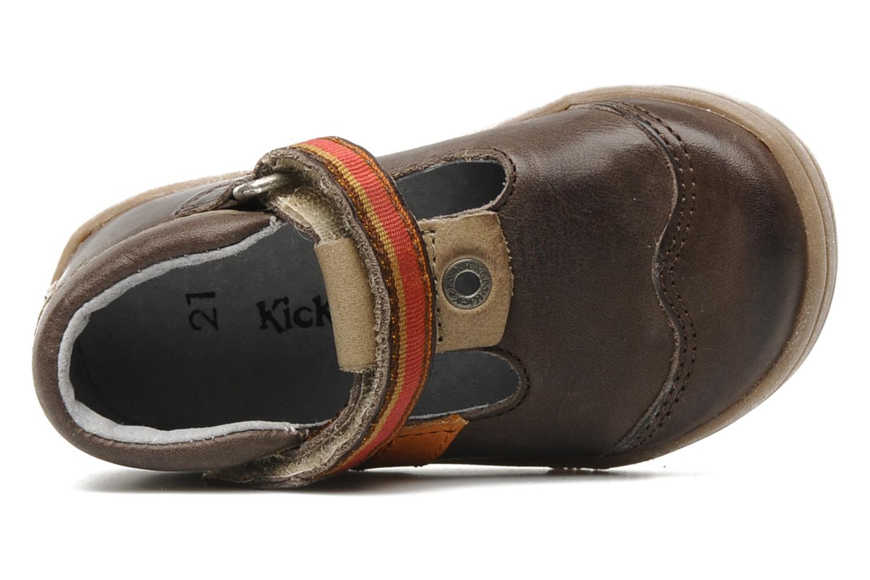Skor med kardborrband Kickers Teo Brun bild från vänster sidan