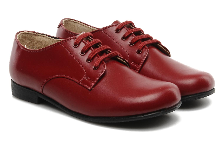 Chaussures à lacets Start Rite John Rouge vue 3/4