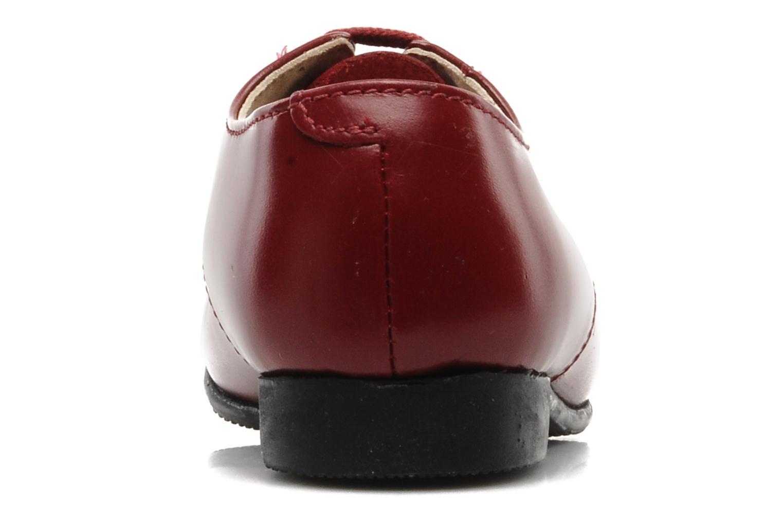 Chaussures à lacets Start Rite John Rouge vue droite