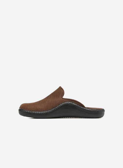 Slippers Romika Mokasso 202 Brown front view