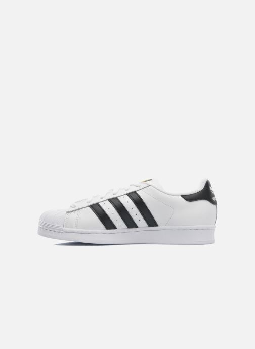 Baskets adidas originals Superstar Blanc vue face