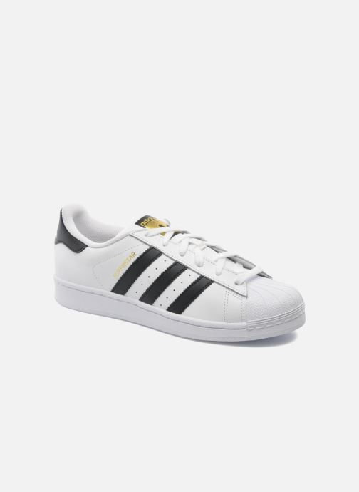 best cheap a270b ab54b Baskets adidas originals Superstar Blanc vue détail paire