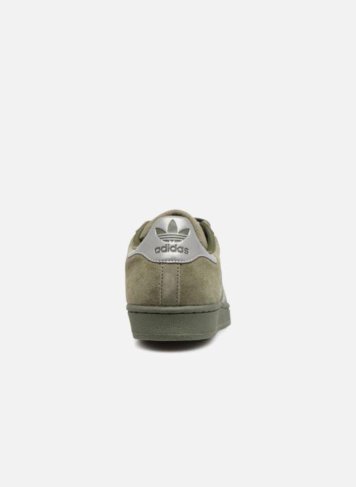 Deportivas adidas originals Superstar Verde vista lateral derecha
