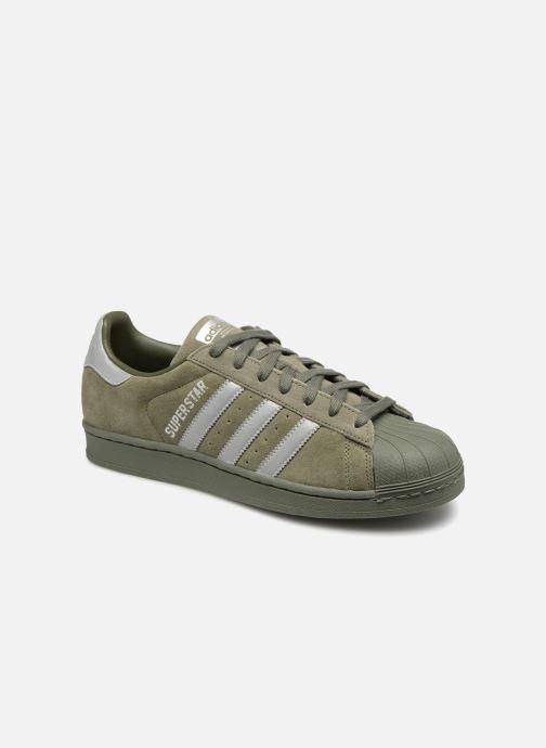 Deportivas adidas originals Superstar Verde vista de detalle / par