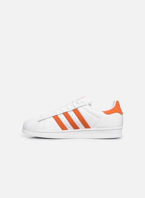 Sneakers adidas originals Superstar Hvid se forfra