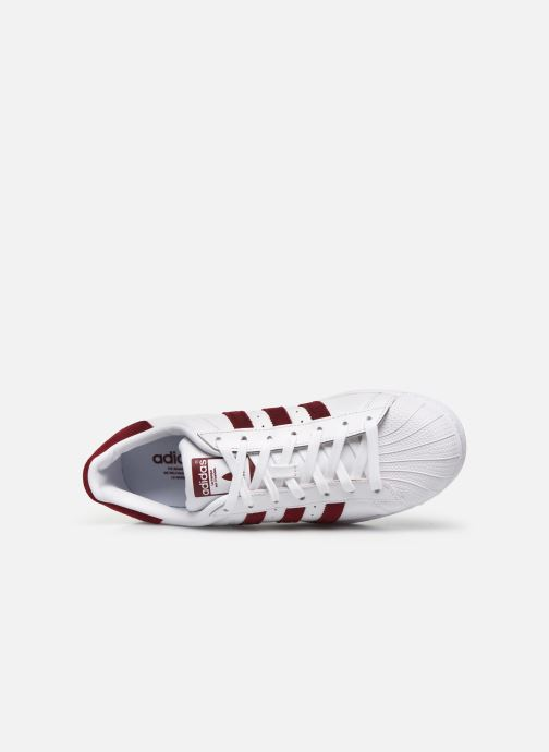 Baskets adidas originals Superstar Blanc vue gauche