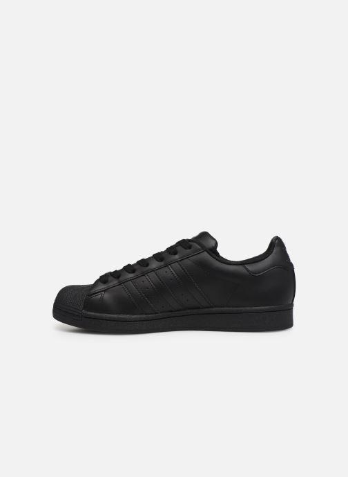 Sneaker adidas originals Superstar schwarz ansicht von vorne