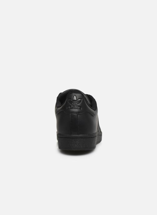 Sneaker adidas originals Superstar schwarz ansicht von rechts