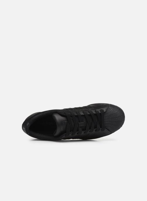 Sneaker adidas originals Superstar schwarz ansicht von links