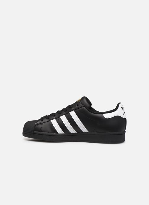 Deportivas adidas originals Superstar Negro vista de frente