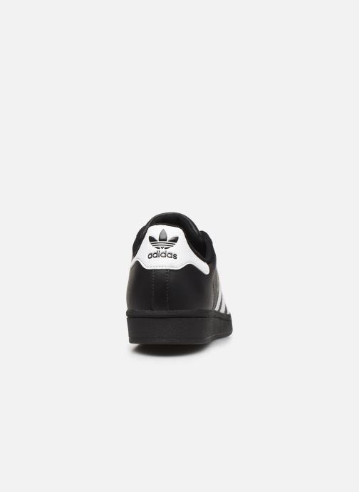 Baskets adidas originals Superstar Noir vue droite