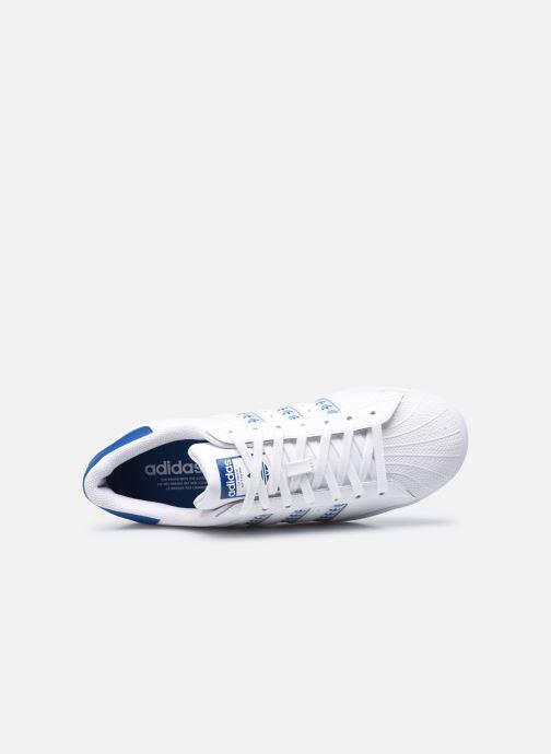 Baskets adidas originals Superstar Blanc vue gauche
