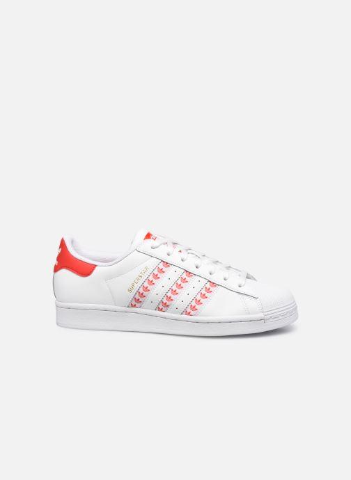 Baskets adidas originals Superstar Blanc vue derrière