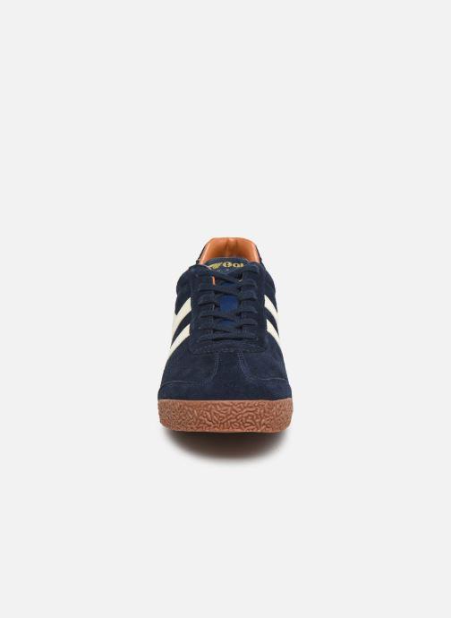 Sneaker Gola Harrier blau schuhe getragen