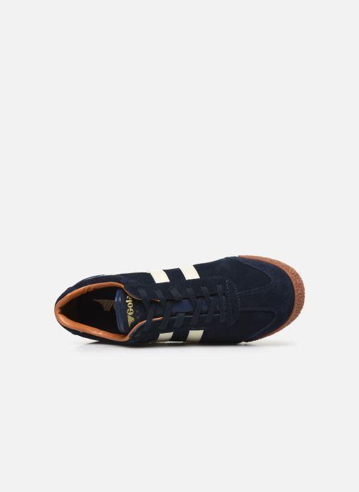 Sneaker Gola Harrier blau ansicht von links