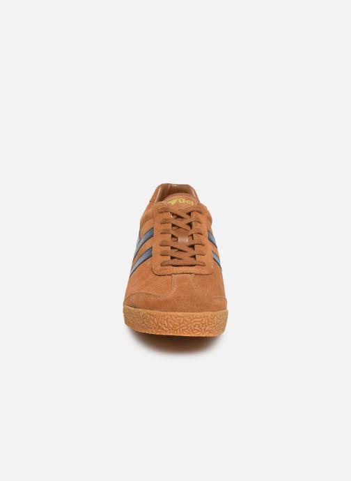 Baskets Gola Harrier Marron vue portées chaussures