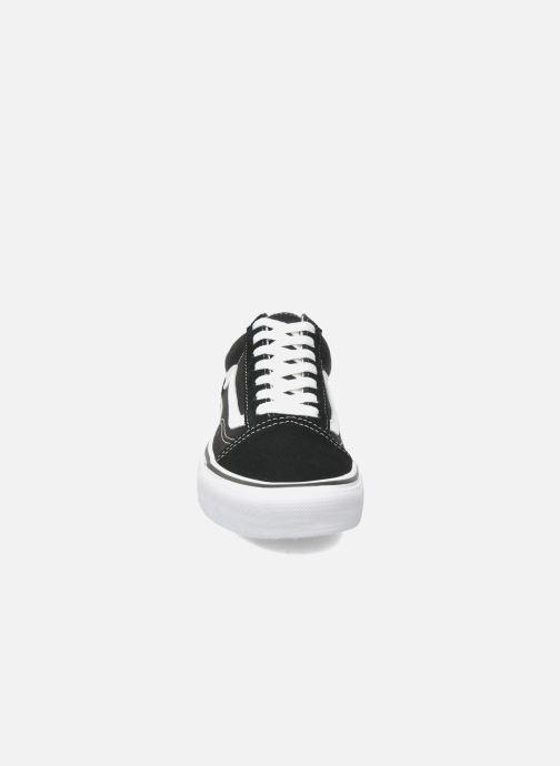 Sneaker Vans Old Skool W schwarz schuhe getragen