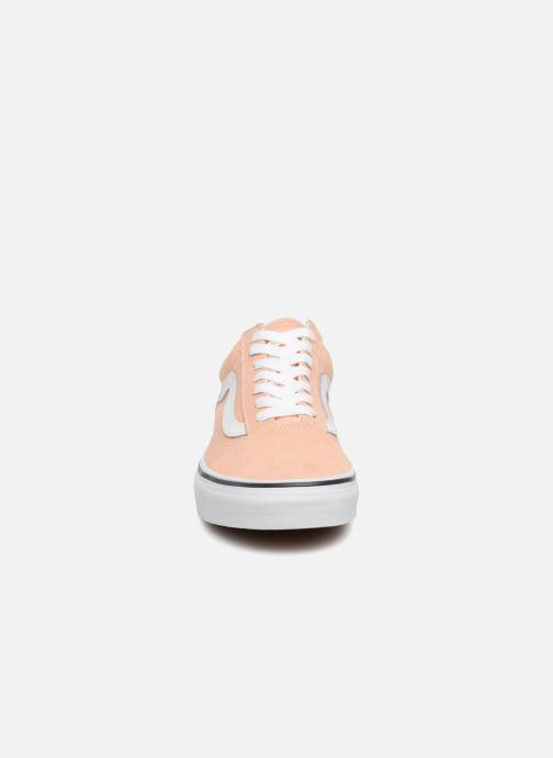 Baskets Vans Old Skool W Orange vue portées chaussures