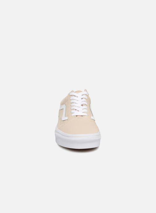 Baskets Vans Old Skool W Beige vue portées chaussures