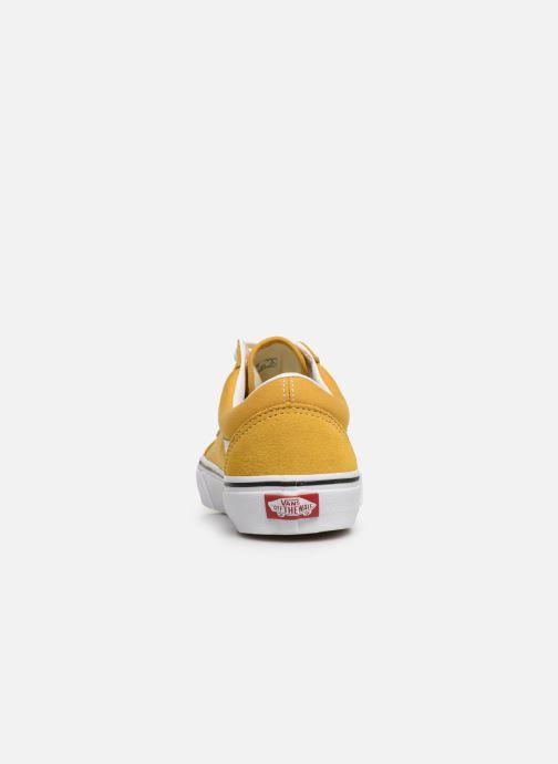 Sneaker Vans Old Skool W gelb ansicht von rechts
