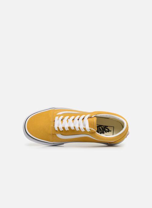 Sneaker Vans Old Skool W gelb ansicht von links