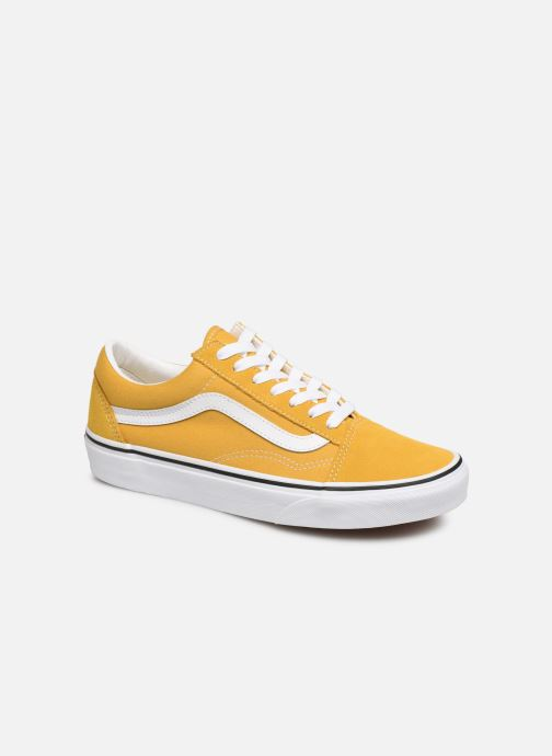 Baskets Vans Old Skool W Jaune vue détail/paire