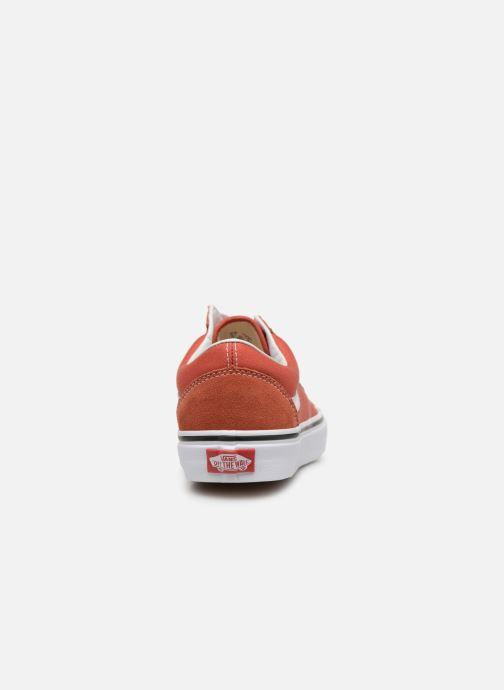 Baskets Vans Old Skool W Orange vue droite