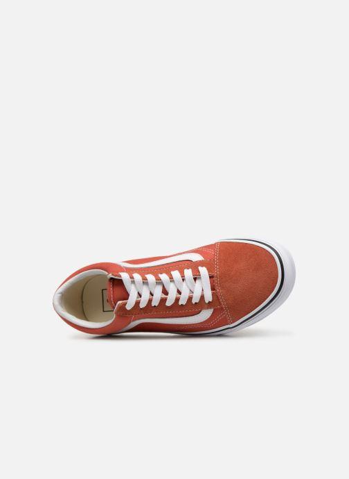 Baskets Vans Old Skool W Orange vue gauche