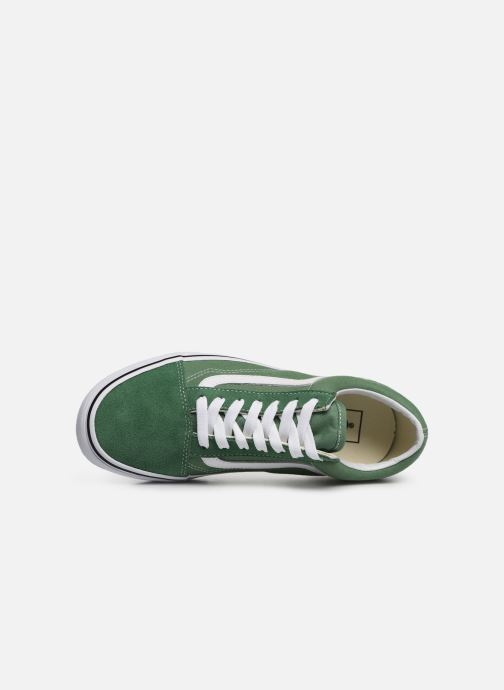 Trainers Vans Old Skool W Green view from the left