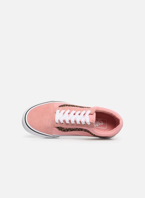 Sneaker Vans Old Skool W rosa ansicht von links