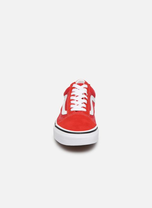Sneaker Vans Old Skool W rot schuhe getragen