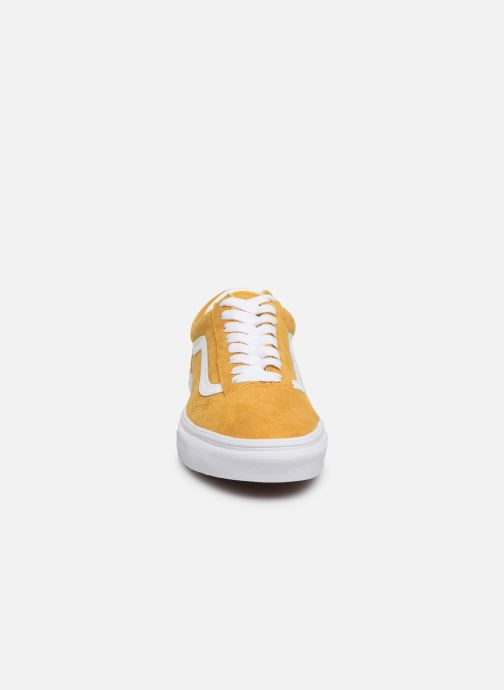 Baskets Vans Old Skool W Jaune vue portées chaussures