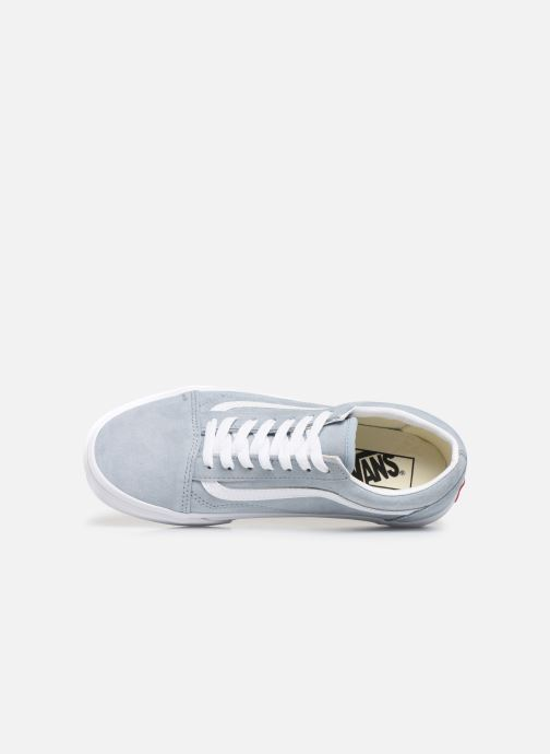 shoes Vans Old Skool Pig SuedeBlue FogTrue White